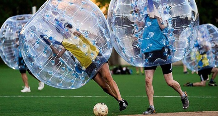 team building bubble foot