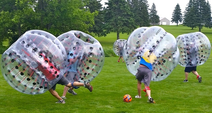 team building bubble footall