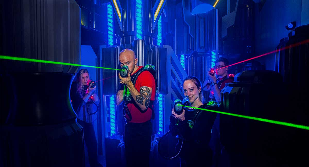 team building laser game viser